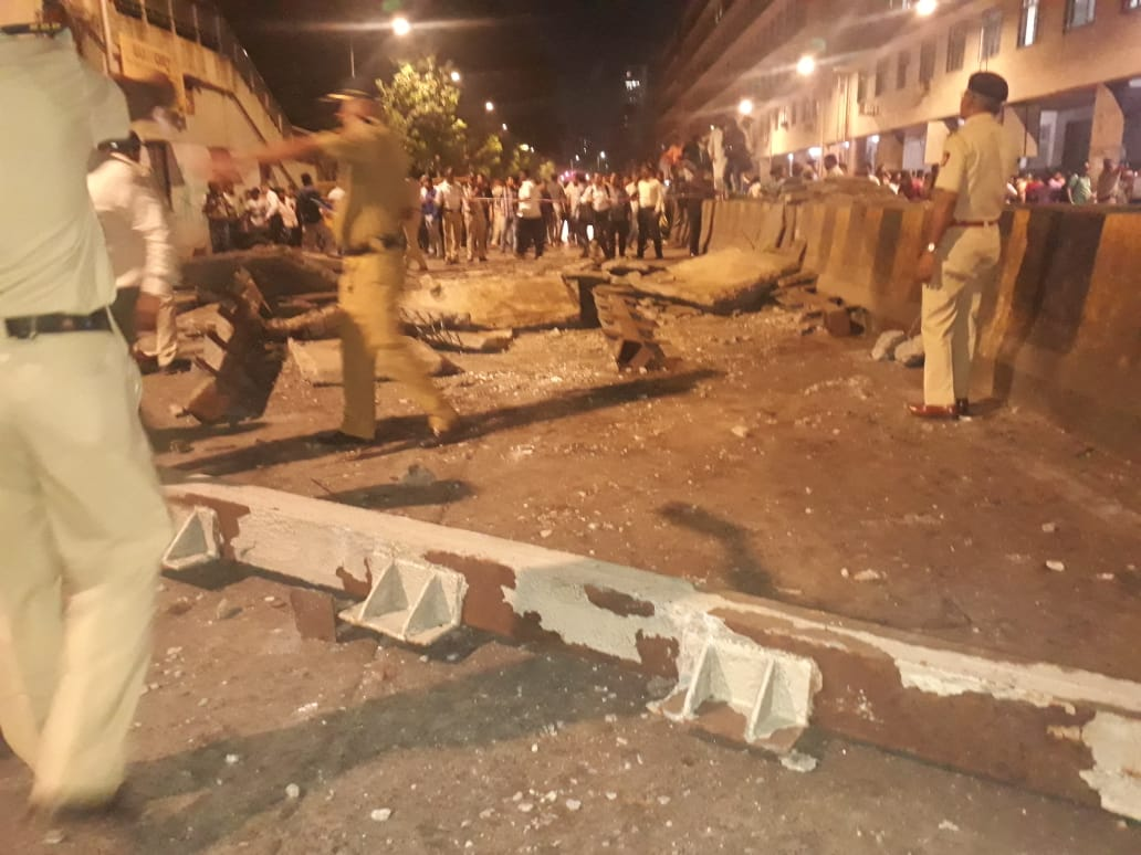 Mumbai Over Bridge collapsed Near Platform 1 Chhatrapati Shivaji Station