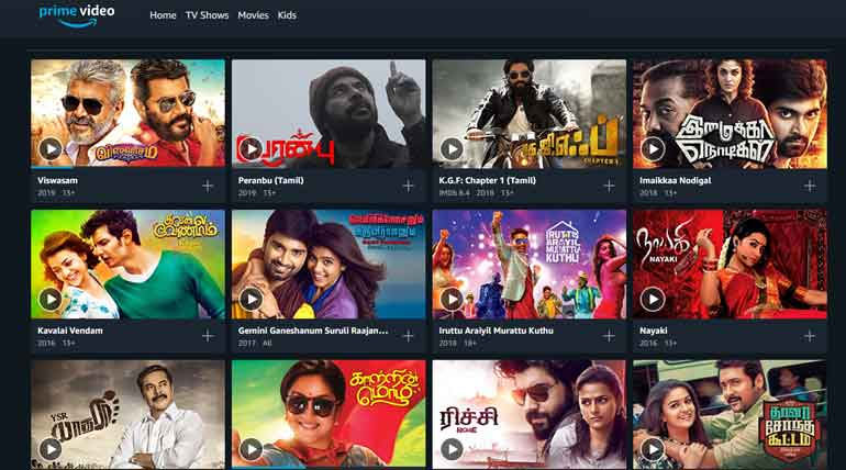 Upcoming Tamil Movies List on Amazon Prime India 2019