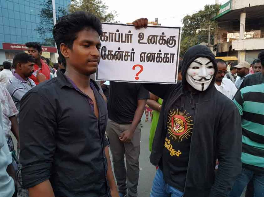 Students Joined Tuticorin Protest Against Sterlite Copper Plant