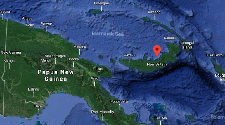 Strong Magnitude earthquake Jolted The New Britain Islands. Image Credit: Google maps