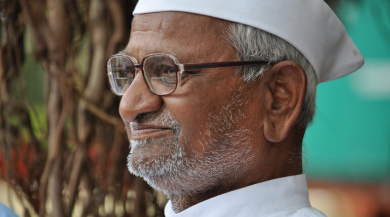 Anna Hazare Started Fasting Again After Seven Years. Image Credit: AbhiSuryawanshi/Wikemedia