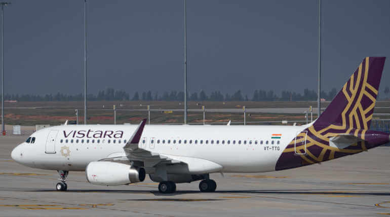 Passenger Detained For Molesting A Vistara Flight Crew Member. photo credit Vistara Flights