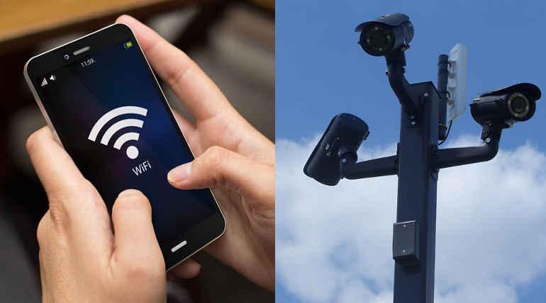 WiFi and CCTV cameras