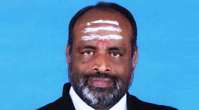 AIADMK MP Navaneethakrishnan. photo credit TNGOV