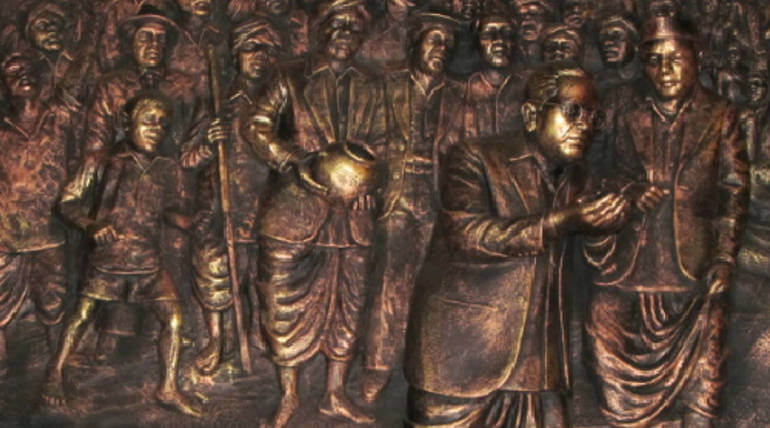 Adityanath Ordered To Add Ramji In Between Bhimrao And Ambedkar. Image representing Mahar Water protest lead by B R Ambedkar. Image Credit:JAIBHIM5/Wikimedia Common