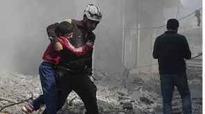 Resumed Russian Air Strike In Northern Syria. Image credit: The white Helmets.