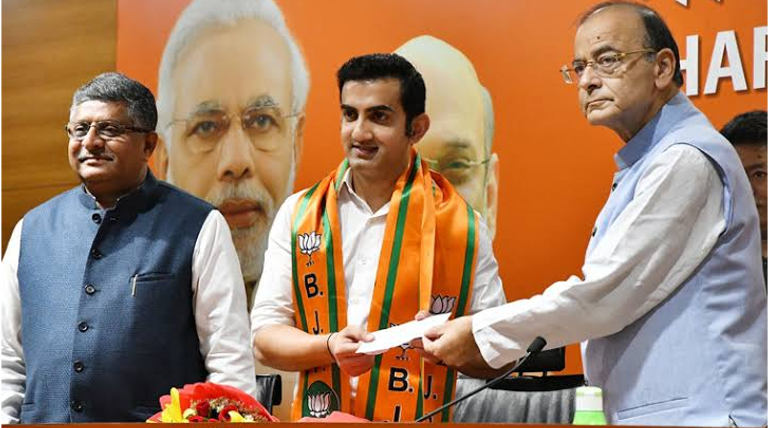 Gambhir Joins BJP Image Courtesy @BJP4India Twitter