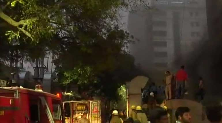 Fire At Delhi AIIMS Hospital Operation Theatre Today. Image ANI