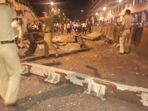 Mumbai Over Bridge collapsed Near Platform 1 Chhatrapati Shivaji Station