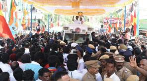 Edappadi Palaniswami takes a Dig On Vaiko in Villupuram Campaign