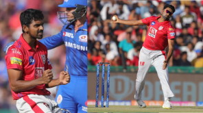 KXIP vs MI Ashwin Duo Restrict MI , Image Courtesy - @lionsdenkxip Twitter