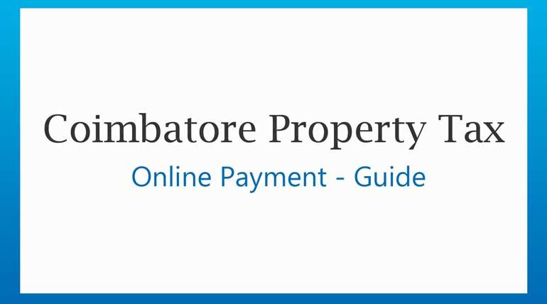 Pay Coimbatore City Municipal Corporation Online Property Tax Payment