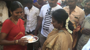 Dr.Tamilisai Soundararajan in Ottapidaram assembly constituency in Thoothukudi district 2019 Image @DrTamilisaiBJP