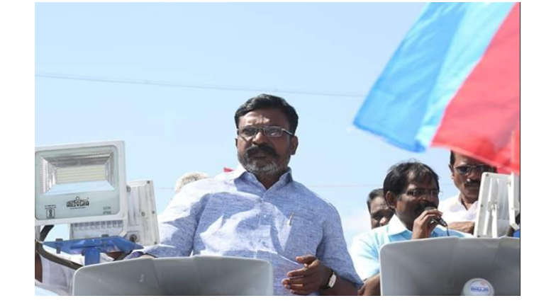 Thirumavalavan denouncing the Attack on Dalits