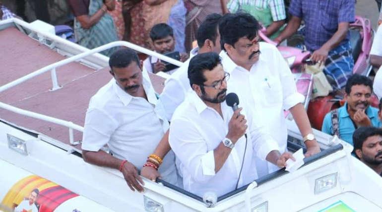 Samathuva Makkal Party leader Sarath Kumar in Viruthunagar