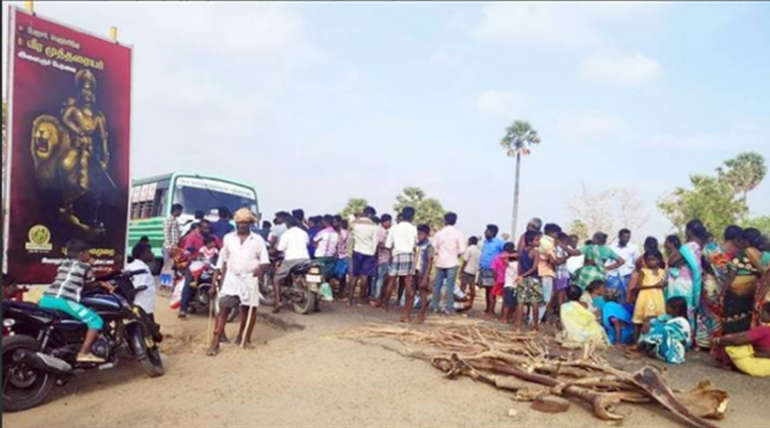 Ponnamaravathi Issue More than 500 People Road Blockade