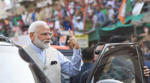 Prime Minister Narendra Modi Voted in Gandhinagar