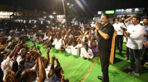 Makkal Needhi Maiam Leader Kamal Haasan in Thanjavur