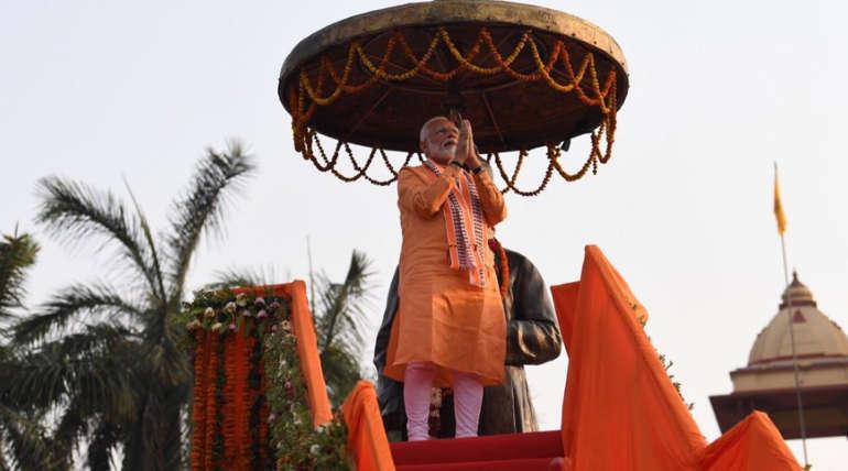 PM Narendra Modi Aarti Show in Varanasi