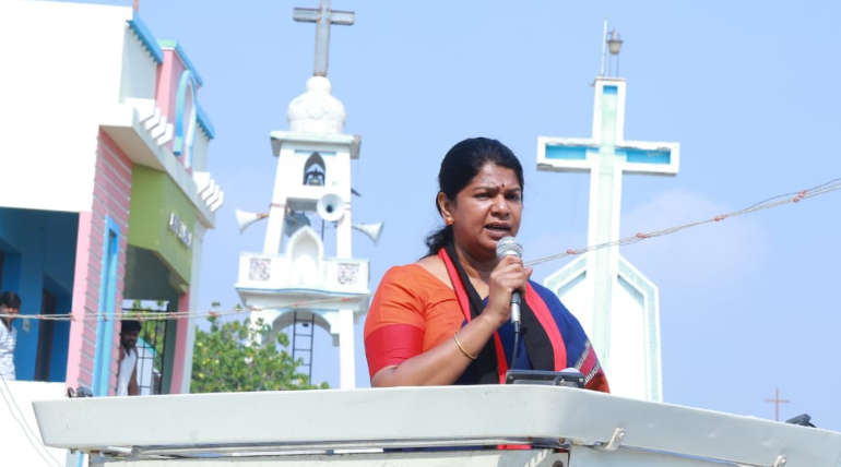 Kanimozhi Tweeted On April 18 Ruling BJP Government will be Thrown Out
