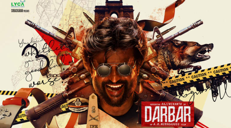 Darbar Movie First Look , Image Courtesy - Lyca Productions