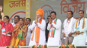 Narendra Modi along with BJP members in Rajasthan Meeting