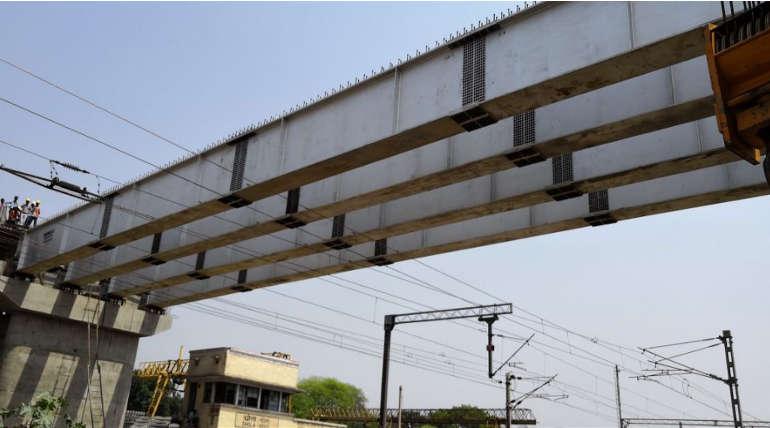 Bridge Under Construction in India. Depicted Image