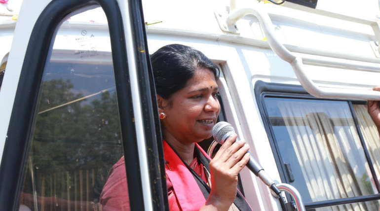 DMK MP Kanimozhi statement about BJP government