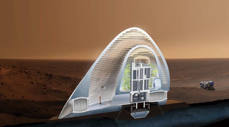 Mars Ice House Model