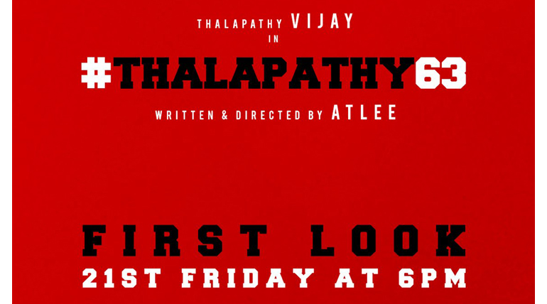 Thalapathy 63 Movie First Look Poster